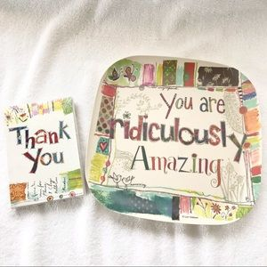Decorative Tray and Inspirational Cards